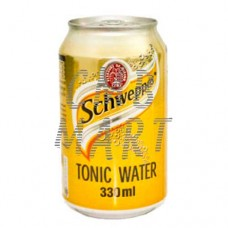 Schweppes Tonic water can 330 ml