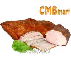 Smoked pork carbonate. 100g